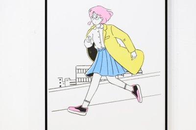 """画像2: RISO PRINT """"NEW TELEPORTATION (STREET)"""" / 高橋由季 YUKI TAKAHASHI"""